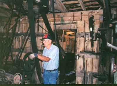 Keith Jackson, at work in Blacksmith Shop