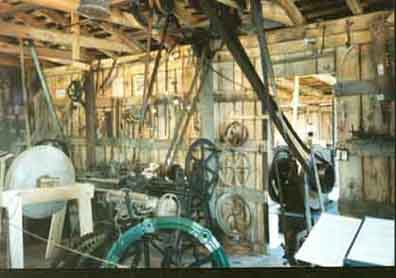 Photo of the inside of Blacksmith Shop