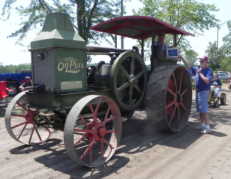 Jerry McGrath on his Rumely Oil Pull